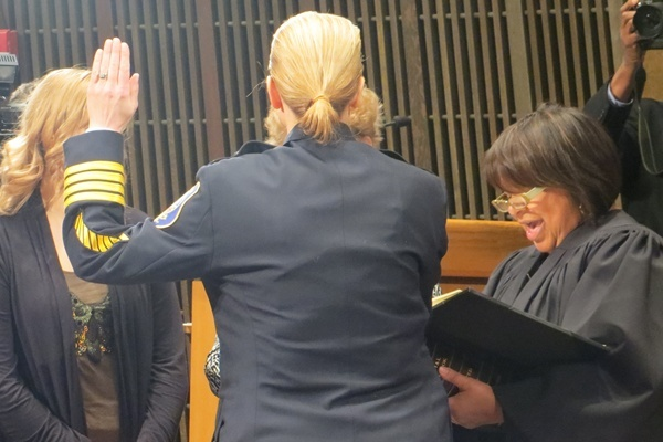 <p>&lt;p&gt;Christine Dunning being sworn in as Wilmington's 29th police chief. (Shana O'Malley/ for Newsworks)&lt;/p&gt;</p>