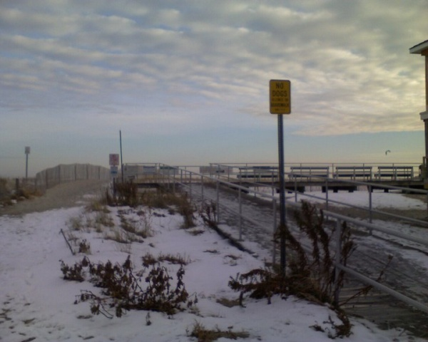 A view from the North end of the Ocean City boardwalk. At the time, it was starting to get cloudy, very windy and cold. (Photo courtesy of Steve Antczak)