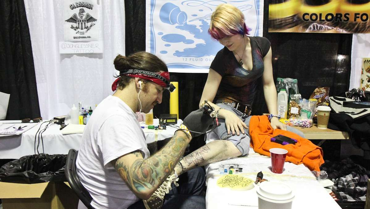 8b34a1799 Art therapy for the body and mind at the Philly Tattoo Convention - WHYY