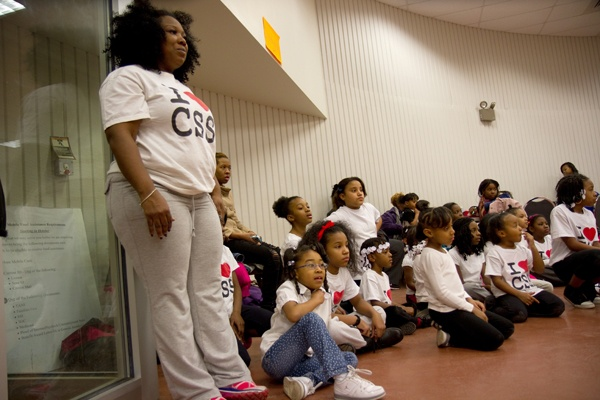 <p>Tawanda Jones founded the drill and dance team to inspire confidence in the girls and members.  (Lindsay Lazarski/WHYY)</p>