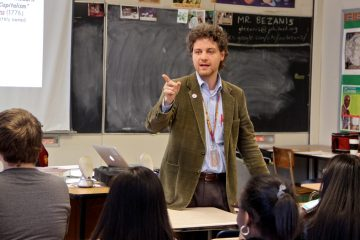 George Bezanis teaches world history at Central High School. (Emma Lee/WHYY)
