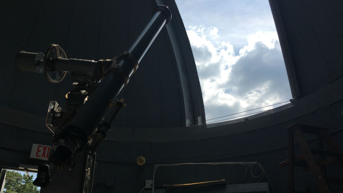 Mt. Cuba's historic telescope could inspire future astronomers during the solar eclipse. (Mark Eichmann/WHYY)