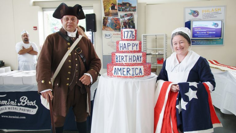 The Termini Brothers Fourth of July cake from  2014. (Independence Visitors Center)