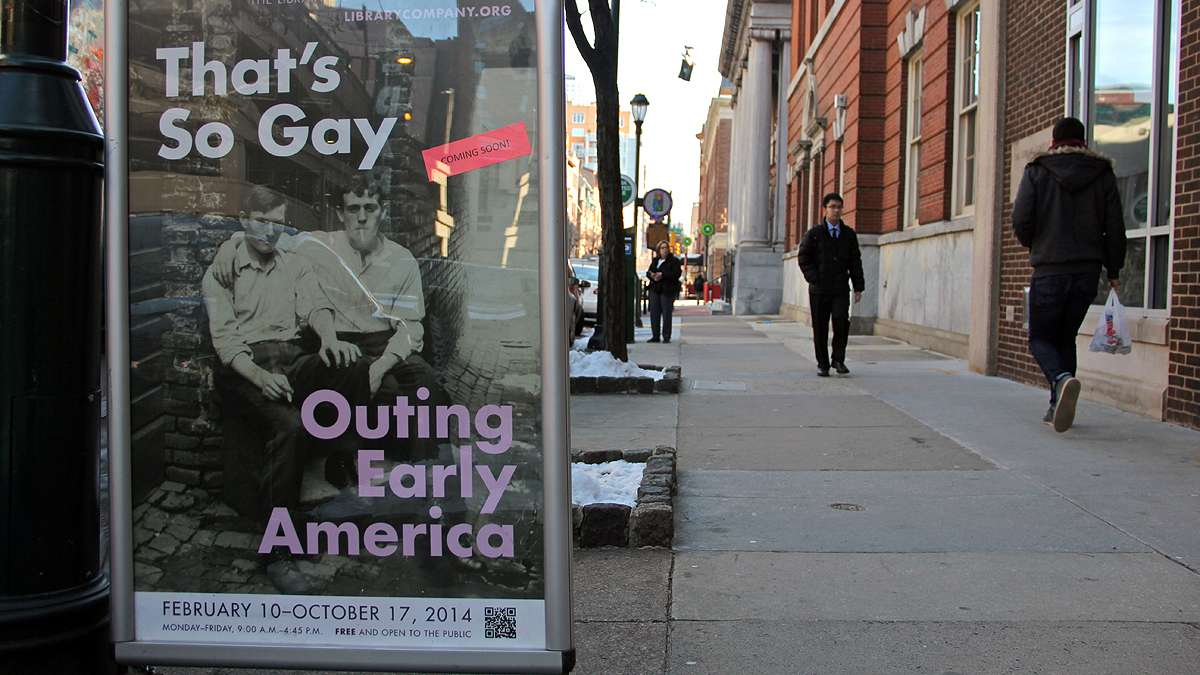 An exhibit at the Library Company of Philadelphia explores the early history of gayness in America. (Emma Lee/for NewsWorks)