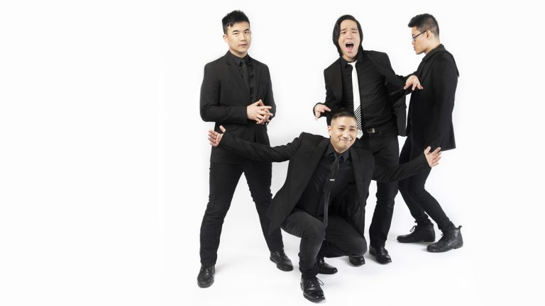 This publicity photo shows the Asian-American rock band called The Slants. The Supreme Court on Monday struck down part of a law that bans offensive trademarks. The case was closely watched for the impact it would have on the separate dispute involving the name of the Washington Redskins football team. (In Music We Trust via AP)