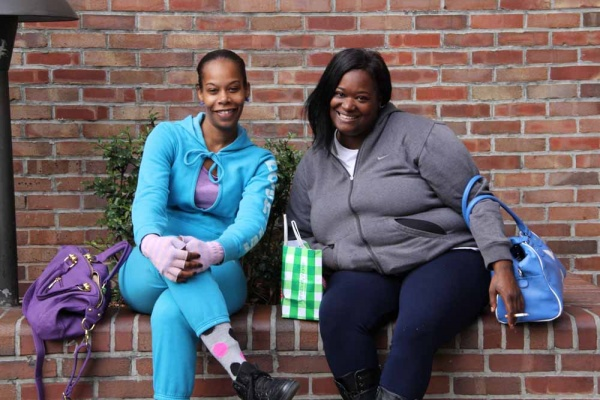 <p><p>Nydera Harvey and Tanya Riddick from West Philly take a break from shopping at The Gallery. They think the mall should stay as it is, but they'd like to see a greater variety of stores. (Emma Lee/for NewsWorks)</p></p>
