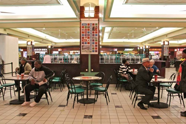 <p>The food court at The Gallery mall on Market Street.  (Emma Lee/for NewsWorks)</p>