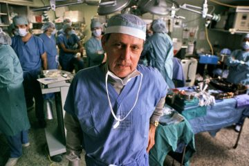 Transplant pioneer Dr. Thomas Starzl is shown on Nov. 10, 1989, overseeing a liver transplant operation at the University of Pittsburgh Medical Center. Starzl died at the age of 90 on March 4 at his home in Pittsburgh. (AP Photo/Gene J. Puskar/File)