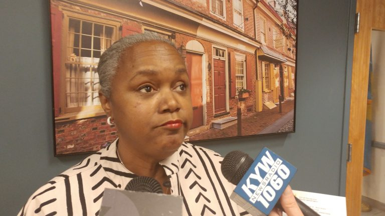 Clarena Tolson, executive director of the Philadelphia Parking Authority, says (Tom MacDonald/WHYY)