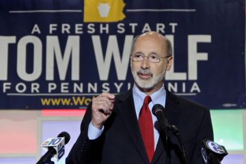 Just 38 percent of Pennsylvania voters think Gov. Tom Wolf is doing a good or excellent job, according to a Franklin & Marshall College poll.(Emma Lee/WHYY)
