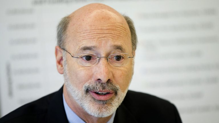 Pennsylvania Gov.-elect Tom Wolf discusses the state budget during a news conference in Philadelphia. (AP Photo/Matt Rourke)