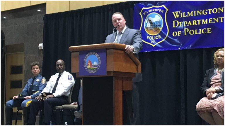 New Wilmington Chief of Police Robert Tracy (Mark Eichmann/WHYY)