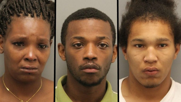 Taliesha Haith, her brother Donnell Singletary, and her 18-year-old son Jason Haith were all charged with human trafficking — sexual servitude, promoting prostitution, and other offenses. (photos courtesy Delaware State Police)