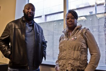 Tracy Martin and Sybrina Fulton spoke on WHYY's Radio Times Thursday. (Kimberly Paynter/WHYY)