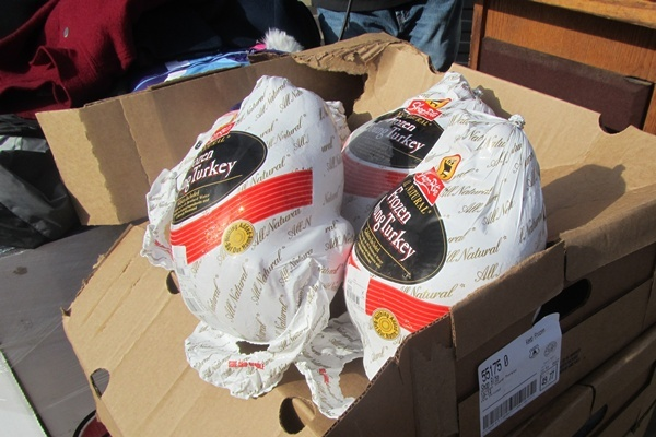 <p>&lt;p&gt;Some of the hundreds of turkeys ready to be given away to needy seniors and other families in Wilmington. (Mark Eichmann/WHYY)&lt;/p&gt;</p>