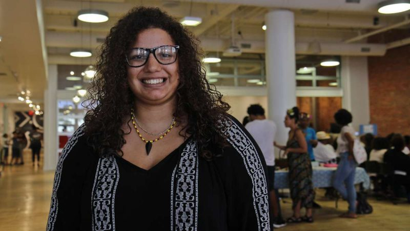 Lexi White is a Kinks, Locks and Twists Conference organizer. (Kimberly Paynter/WHYY)
