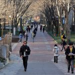 Locust Walk on the University of Pennsylvania campus in West Philadelphia.
