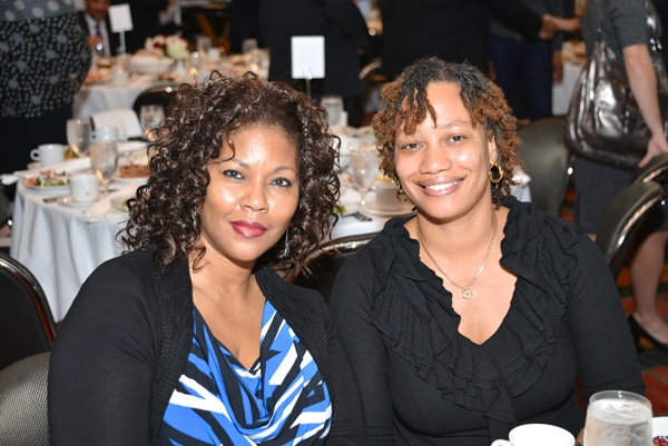 <p><p>Trish Lawrey (left), of CIGNA Corporation, a luncheon sponsor, and colleague Shawnicque  Kent, a graduate of the Urban League of Philadelphia's 2010 class of the Urban Leadership Forum (Photo courtesy of Paul Coker)</p></p>