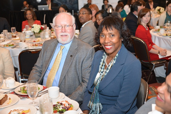 <p><p>Steven Curtis, president of Community College of Philadelphia, and Michelle Howard-Vital, president of Cheney University. Both institutions partner with the Urban League of Philadelphia in education initiatives. (Photo courtesy of Paul Coker)</p></p>
