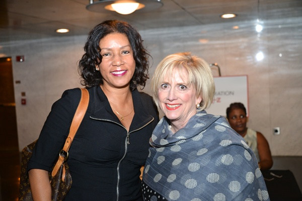 <p><p>Former board members of the Urban League of Philadelphia Andrea Custis (left), and Irene Hannan of Citizens Bank (Photo courtesy of Paul Coker)</p></p>