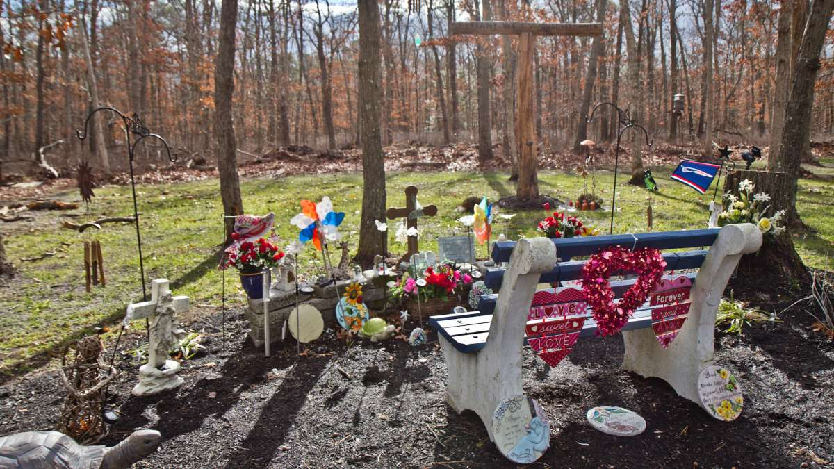 Tiffany's father Stephen Valiante built a memorial in their yard where her nieces and nephews can come to remember her.
