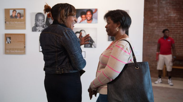 The opening reception of 'My Son Matters' is on Friday night at Mt. Airy Art Garage. (Tracie Van Auken/for NewsWorks)