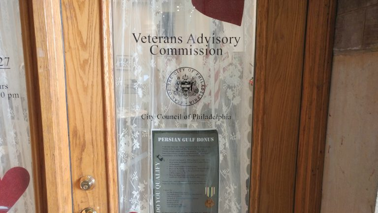 Philadelphia's Veterans Advisory Commission is one place that stores paper records. (Tom MacDonald/WHYY)
