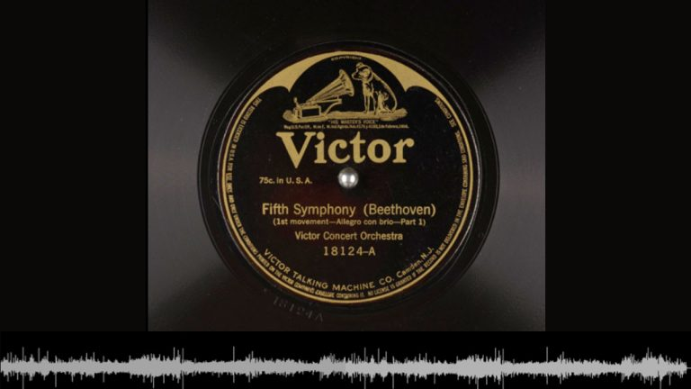 Record label from one of the records that has been uploaded to the Internet Archive. (Image archive.org)