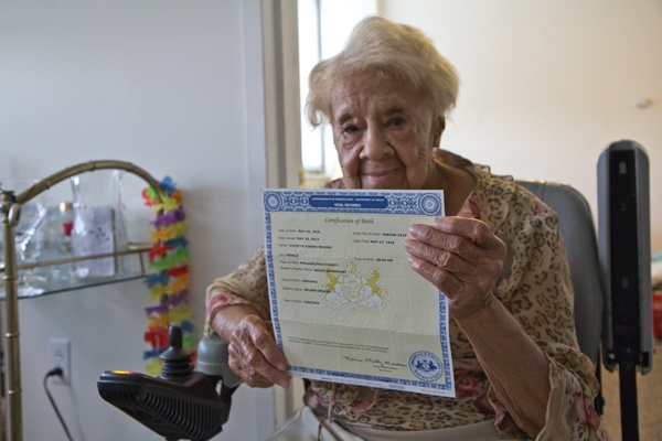 <p>&lt;p&gt;12. When Viviette Applewhite's birth certificate arrived on her 93rd birthday, she &quot;had a fit&quot; since she'd been waiting for so long. (Kimberly Paynter/for NewsWorks)&lt;/p&gt;</p>