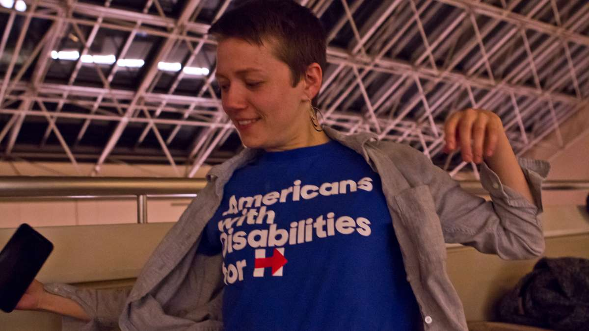 Matthew Clark designed the shirt Dynah Haubert wears. Both wonder if their voices will be heard in the Trump administration.