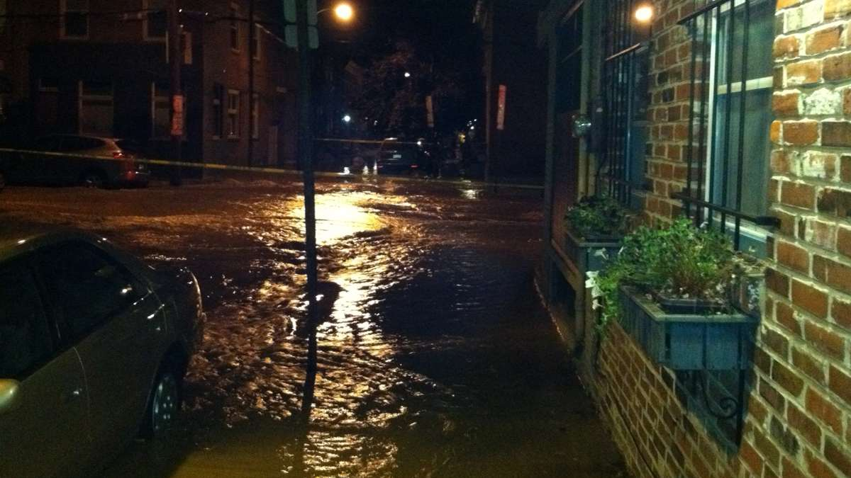 A water main break that occurred in July 2012 is still a very real problem for many Philadelphia residents. (Image courtesy of Jim McLaughlin)