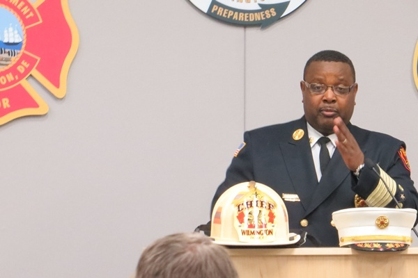 <p><p>Chief of Fire Willie Patrick retires after 32 years (Shirley Min/WHYY)</p></p>
