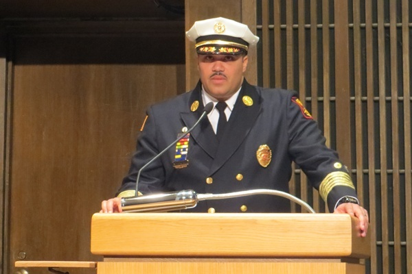 <p><p>Anthony Goode is the new Chief of Fire for the Wilmington Fire Dept. (Shirley Min/WHYY)</p></p>