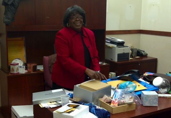 <p><p>Former Eighth District City Councilwoman Donna Reed Miller packed up her City Hall office last December. She has remained busy, though. (Brian Hickey/WHYY)</p></p>