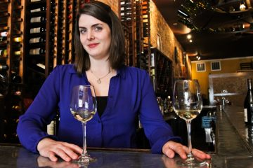 Kate Moroney-Miller, Wine Director at Vintage Wine Bar & Bistro and co-founder of Philly Wine Week (Kimberly Paynter/WHYY)