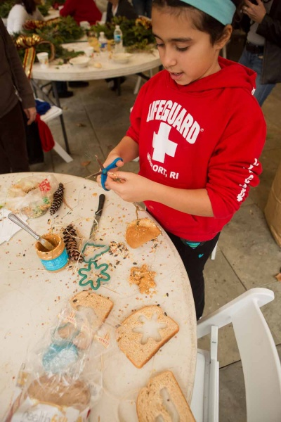 <p><p>Sarah Fritz, 9, of Mt. Airy makes treats for animals at the Winter in the Wissahickon event hosted by the Friends of the Wissahickon on Dec. 1. (Dave Tavani/for NewsWorks)</p></p>