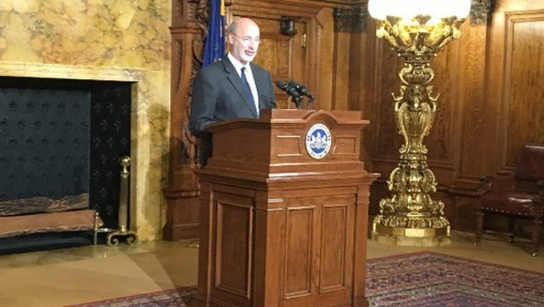 Gov. Tom Wolf says budget negotiations are going well, though he didn't offer many specifics. (AP file photo)