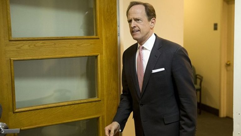 U.S. Senator Pat Toomey, seen here in August 2017. (AP Photo, file)