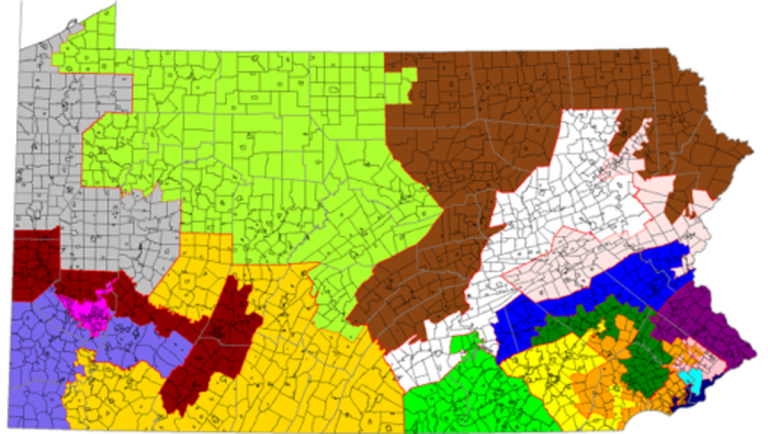 Pennsylvania is one of the more gerrymandered states in the country. (Wikimedia)