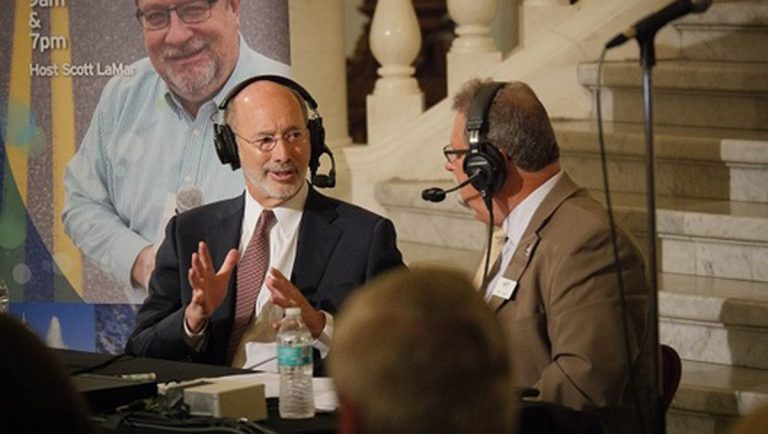Wolf speaks at a WITF event at the Capitol. (Tom Downing/WITF)