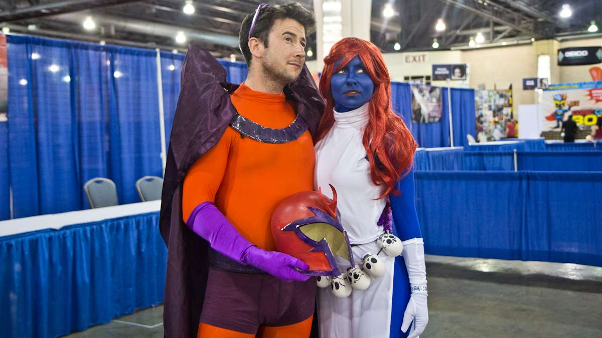 Jim O'Callaghan as Magneto and Steph Hazelwood as Mystique