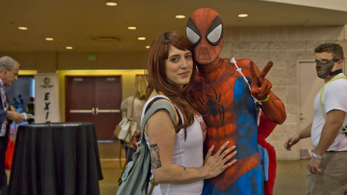 Marissa Touch as Mary Jane Watson, and Chuck Wintmrborne as Spiderman.