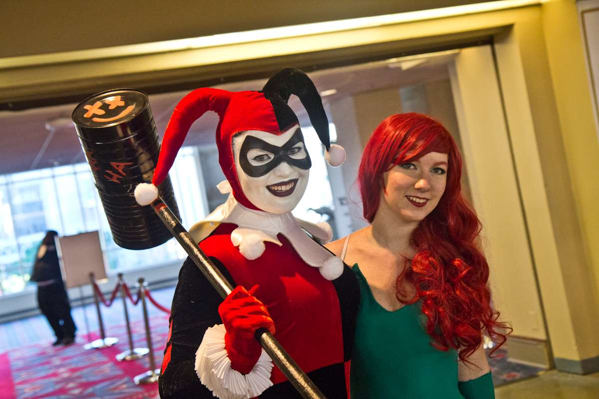 (From left) Breanna Long as Harley Quinn and Janine Shawcross as Poison Ivy.