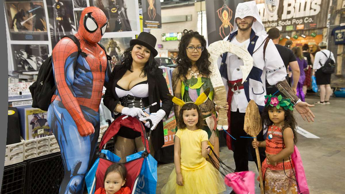 The Garcia and Aviles family put their costumes together last minute for Wizard World.