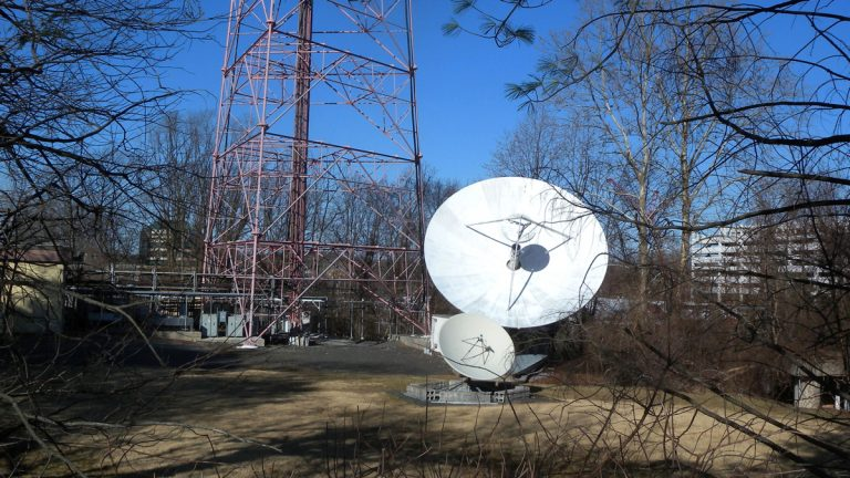 The WNJN-TV station in Montclair.  New Jersey has auctioned two of four public broadcasting licenses for $330 million. (<a href=