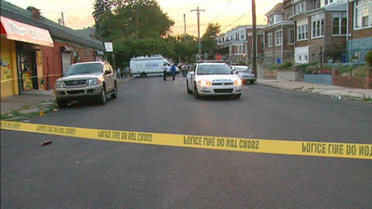 Police are investigating a shooting that took place on the 7200 block of Ogontz Avenue on Tuesday night. (Photo courtesy of NBC10)