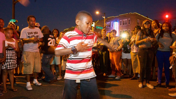 Ten-year-old Gabar Moody from West Oak Lane steals the show in one of the evening's spontaneous dance parties. (Bas Slabbers/for NewsWorks)