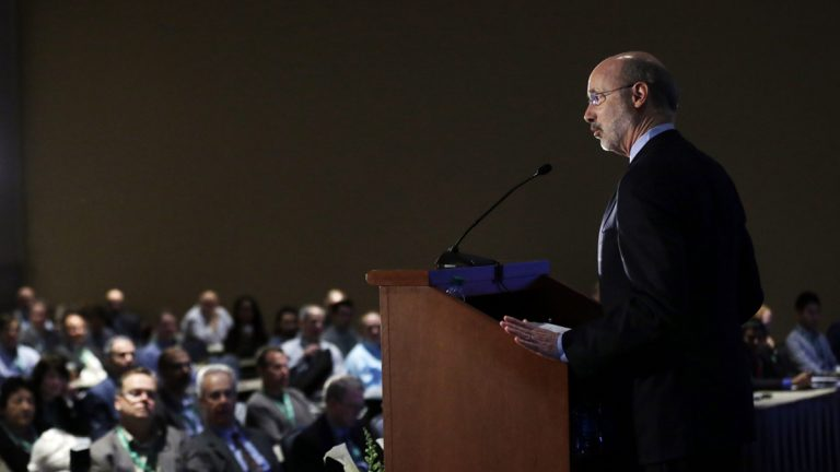 Pennsylvania Gov. Tom Wolf speaks during a news conference in Philadelphia, Pa. (AP Photo/Matt Rourke)