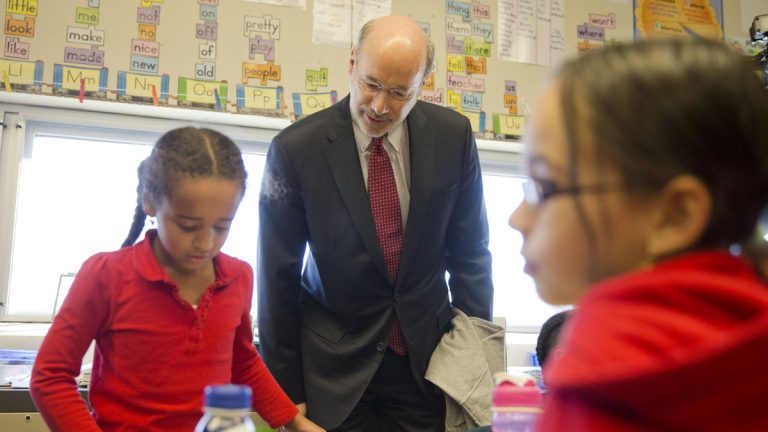 Gov. Tom Wolf tours Caln Elementary School in Thorndale, Pa. (AP File Photo/Matt Rourke)