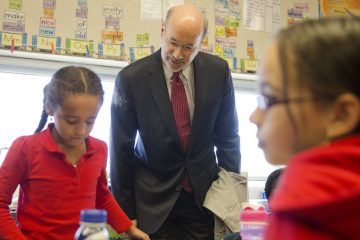Pennsylvania Governor Tom Wolf tours Caln Elementary School in Thorndale, Pa. Wolf kicked off a statewide